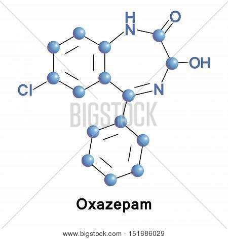 Oxazepam is a short-to-intermediate-acting benzodiazepine. Oxazepam is used for the treatment of anxiety and insomnia and in the control of symptoms of alcohol withdrawal.