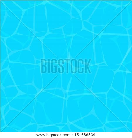 Vector illustration texture of water. The water surface blue.
