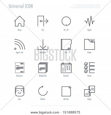 Universal icon for website and web application. vector stock.