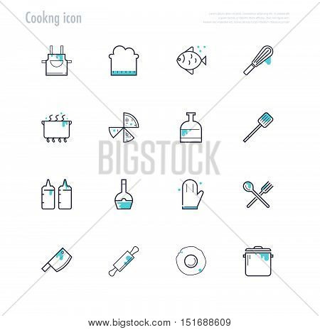 Cooking icon. kitchen tools icon. vector stock.