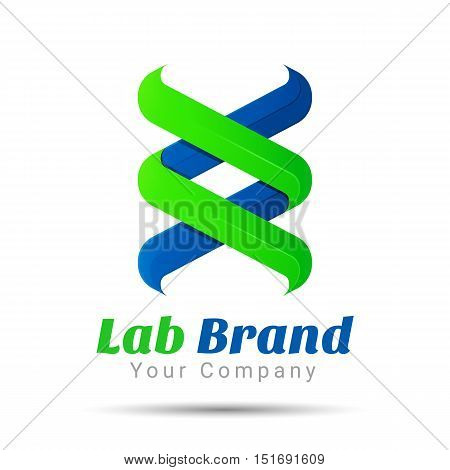bio technology, biology design, DNA logo template. Vector business icon. Corporate branding identity design illustration for your company. Creative abstract concept.