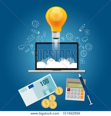 finance your ideas get funding to launch your start-up project vector