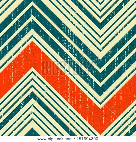 Seamless Zigzag Pattern. Abstract Stripe and Line Background. Vector Regular Zig Zag Geometric Texture. Minimal Print Design