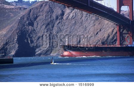 Ship Under Golden Gate