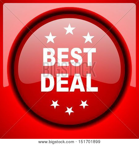 best deal red icon plastic glossy button