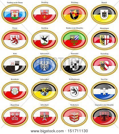 Flags Of German Cities (bavaria)