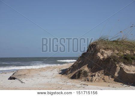 Washed Away Sand Dunes from Hurricane Matthew