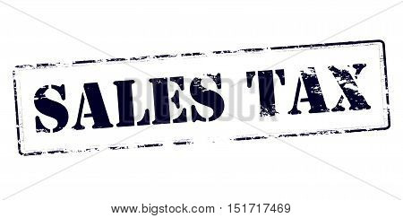 Rubber stamp with text sales tax inside vector illustration