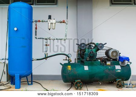 Piston Air compressor used in the factory / Air compressor