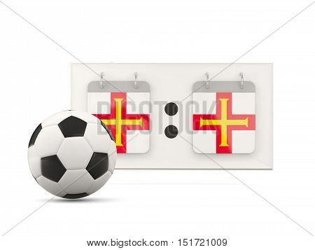Flag Of Guernsey, Football With Scoreboard