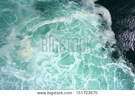 sea surface top view. Nature background texture