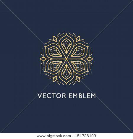 Vector Logo Design - Luxury Beauty Spa Concept
