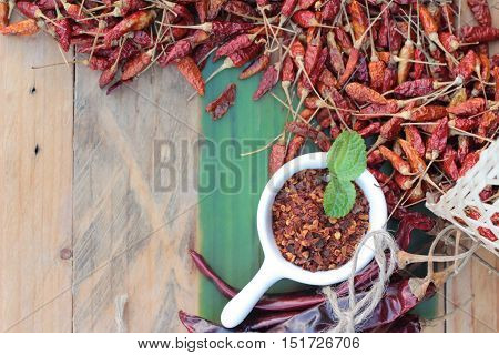 Chili powder and dried chilli for cooking
