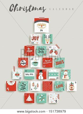 Christmas Advent Calendar Cute Ornament Decoration