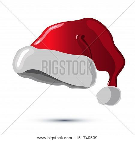 Santa Claus Hat Design Concept on The White BAckground