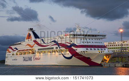 TALLINN, ESTONIA - JULY 31, 2015: The ferry