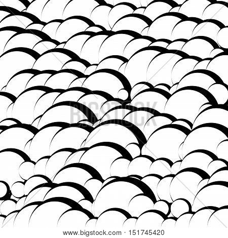 Abstract Artistic Texture / Pattern With Wavy Lines, Overlapping Ovals