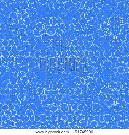 Seamless Pattern With Circles, Bubbles. Aqua, Water, Sparkling Water Texture