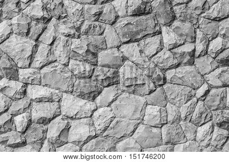Stone and rock wall background and texture