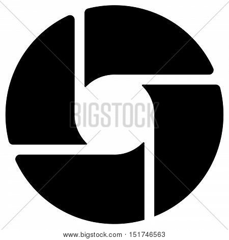 Diaphragm Like Circular Symbol For Photography, Technology, Generic Logos –segmented Circle Icon.