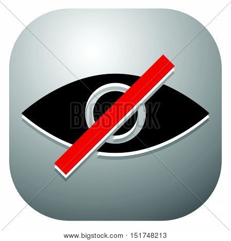 Eye Sign, Symbol With Strikethrough Line - Don't Look, Harmful To Vision, No Preview - No Image Conc