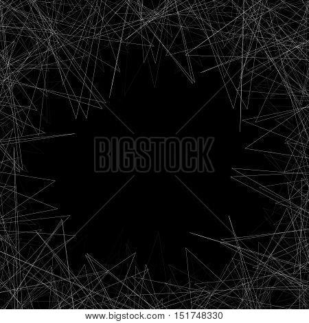 Random Edgy Shapes At Artwork's Edges. Gometric Frame, Background