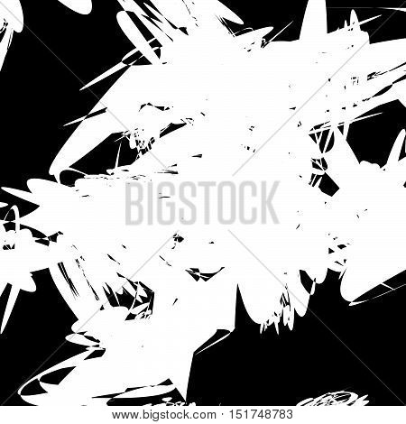 Abstract Art Composition With Random, Chaotic Pattern