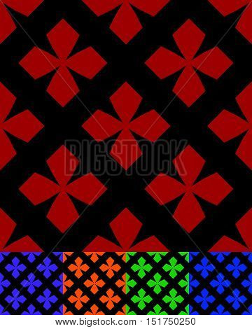 Simplified Design Of A Classic Folk Textile, Embroidery, Carpet Pattern -