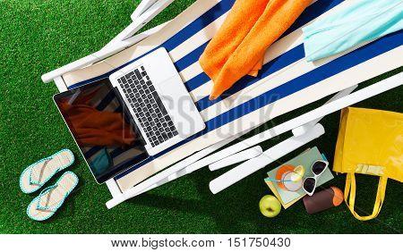 Deckchair In The Garden