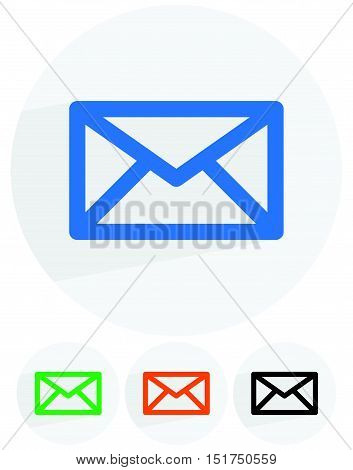 Email, Letter, Envelope Symbols. Communication, Contact, Support Icon