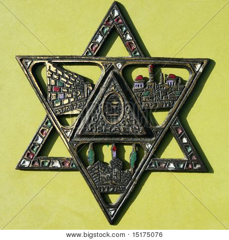 Closeup Of Antique Star Of David.