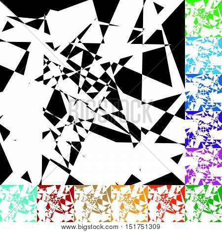 Edgy Geometric Vector Texture / Pattern In 12 Color