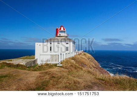 The older of the two lighthouses on the site at Cape Spear, Newfoundland, Canada.