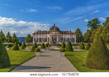 Baroque Pavilion in garden of Melk abbey Austria