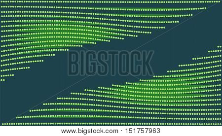 Neon green wave with glowing lines. Abstract background. Empty text frame. Vector illustration