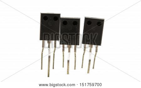 electronic element  Resistors isolated on white background