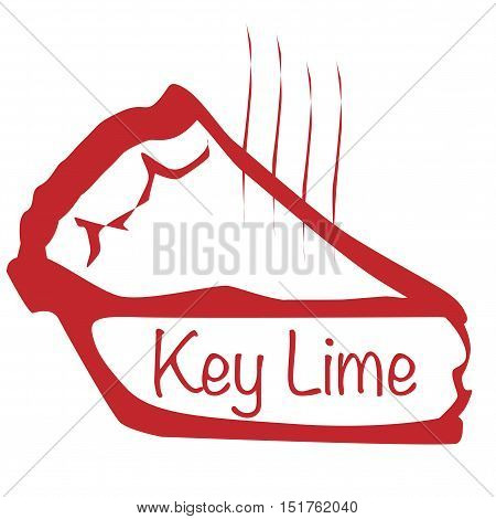 Cartoon depiction of a hot key lime pie over a white background