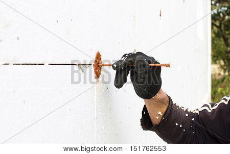 The Process Of Fixing Dowel-umbrellas
