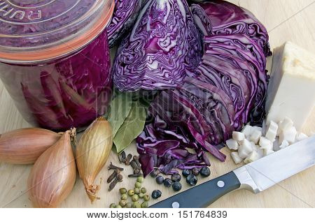 cooking blue cabbage and making it durable