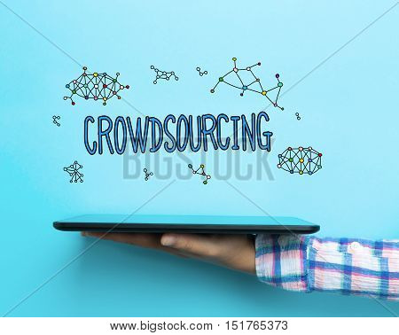 Crowdsourcing Concept With A Tablet