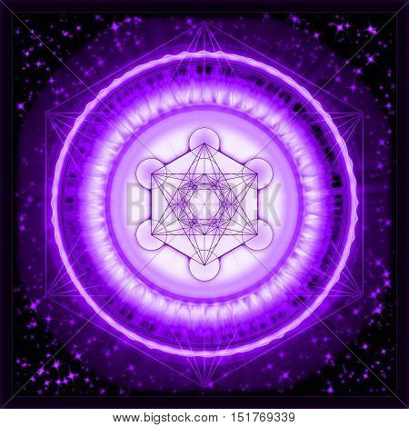 Illustration of archangel metatron symbol. Metatron's Cube.