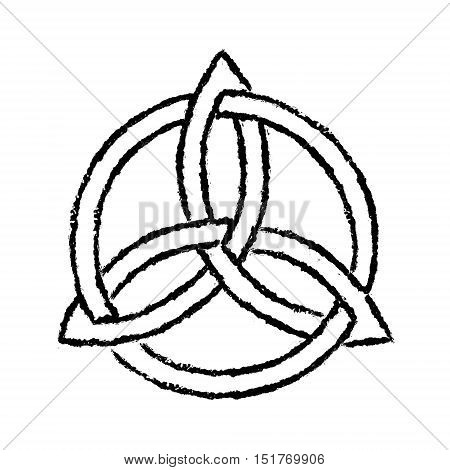 Illustration of a celtic trinity knot symbol.