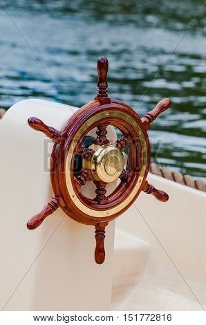 Ship helm steering wheel boat yacht nautical equipment attractive