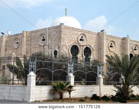 The dome of Hasan-bey Mosque in Tel Aviv Israel Febuary 14 2011