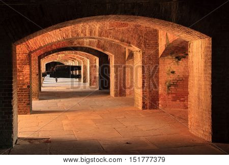Interior Architecture of Fort Taylor, Fort Zachary Taylor Historic State Park, Key West, Florida