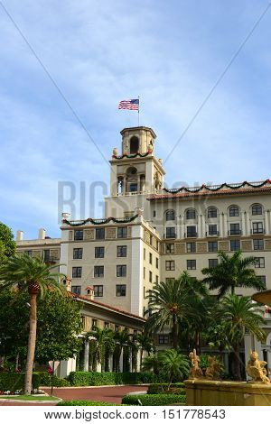 Breakers Hotel is a historic hotel in Palm Beach with Italian Renaissance style, Florida, USA. Originally called the Palm Beach Inn, this hotel was one of the impressive east coast hotels belongs to Henry Flagler.r