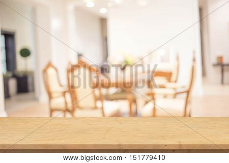 Blur Dinning room for background. Blur Dinning room for background.
