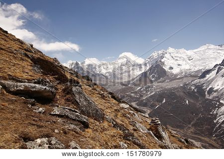 Himalayan mountains, Khumbu himal, Everest region Nepal
