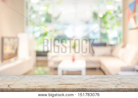 Blur Image Of Modern Living Room Interior