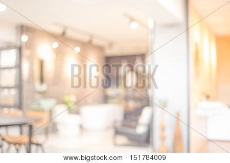 Abstract Blur Living Room Background